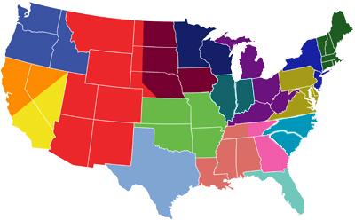 Jorvet Labs United States Regional Map