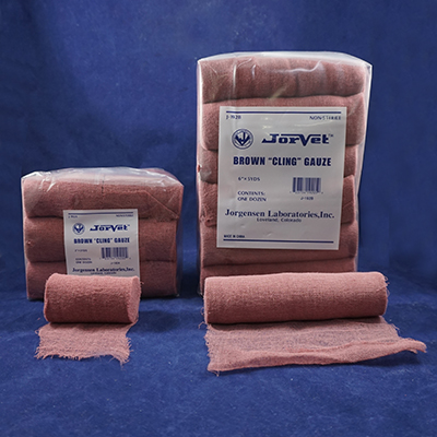 Brown Cling Gauze 3 X 5 Yds Jorgensen Labsjorgensen Labs