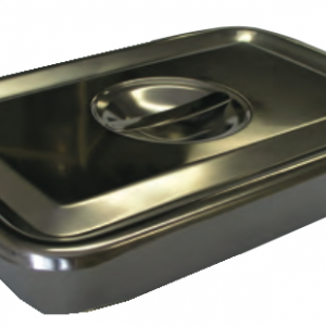 "Instrument Tray, w/ Recessed Handle on Lid, 12 1/4"" x 8"""