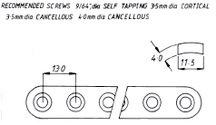 3.5mm Heavy-Duty Round-Hole Plate  143mm