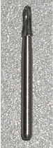 Carbide Fissure, Tapered Round End, Friction Grip