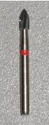 Carbide Flame Tip Burr, Friction Grip