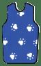 X-Ray Apron, Royal Blue Paws, Velcro Small