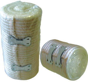 "Ace Bandage, Standard w/ Metal Retention Clip  4"""