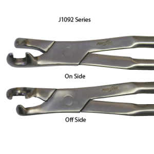 Three Root Extracting Forceps, On Side 21""