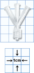 W' or Wye Fluid Line Connector, Nonsterile