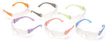 Colorful Economy Safety Glasses, 12-Pack