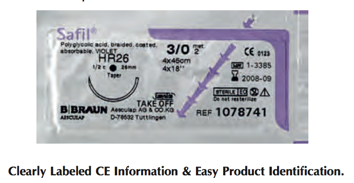 Catgut Chromic w/ Needle, 3/8 Circle, Reverse Cutting, 24mm L, 3/0