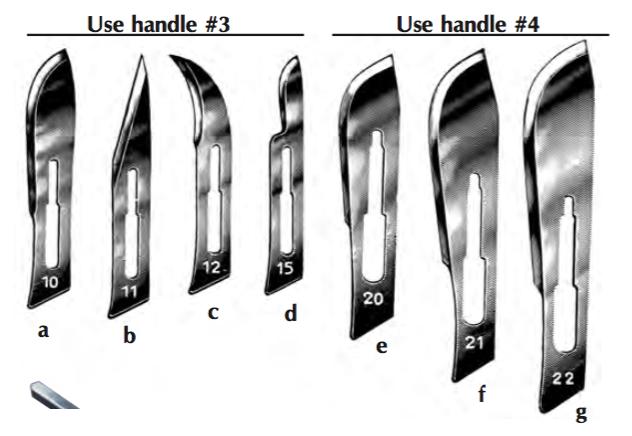 Sterile Swann-Morton Scalpel Blades, #21