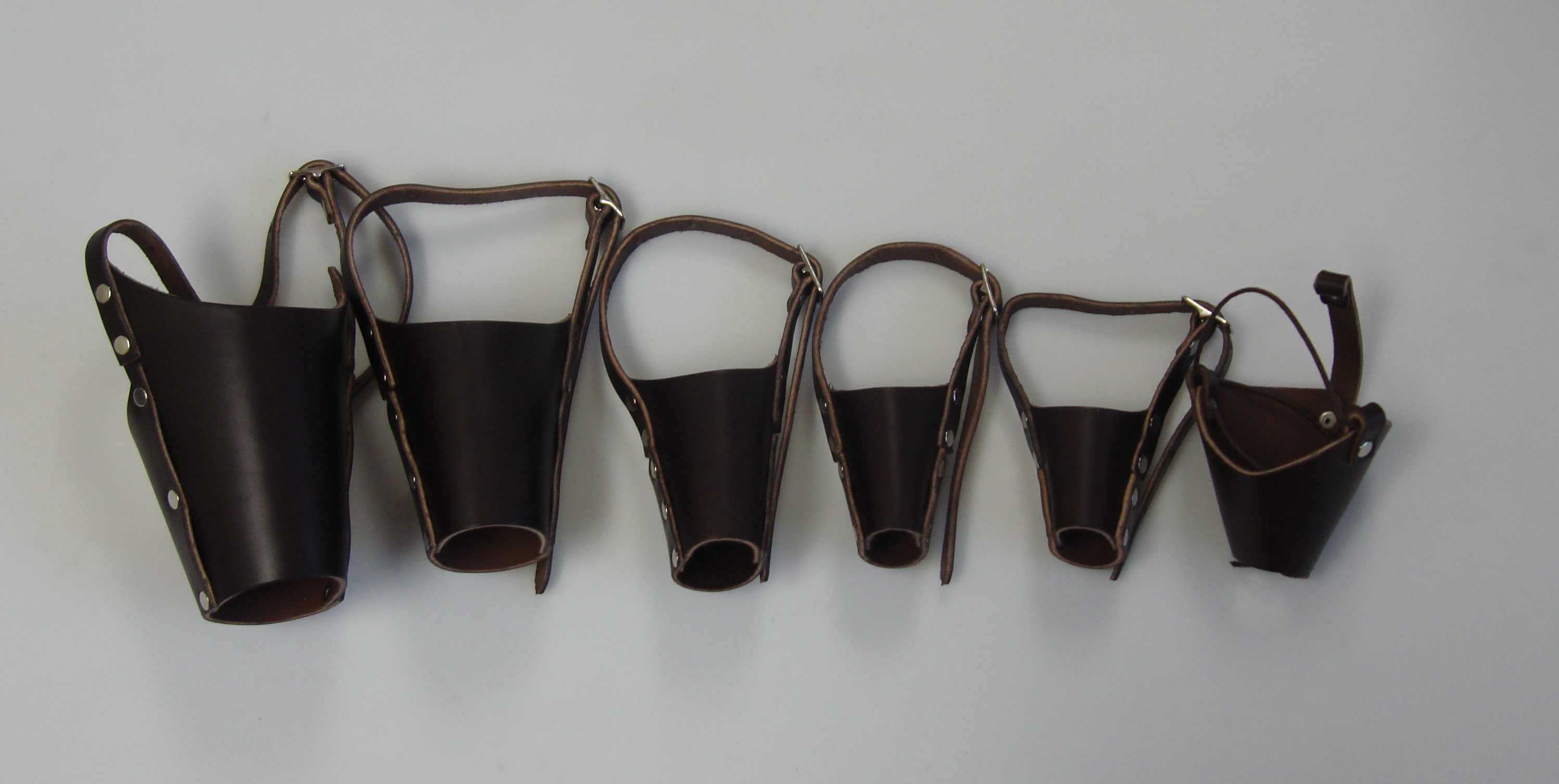 Leather Muzzle, Set of 6