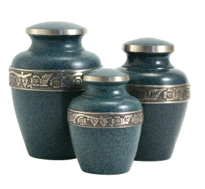Avalon Evening Blue Urn,  Medium