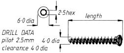 4mm Cancellous Screw, Full Thread  10mm