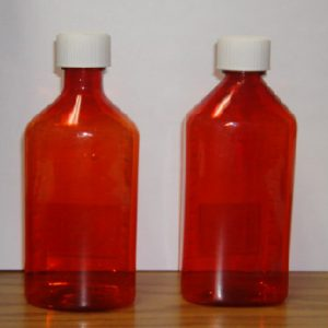 Amber Plastic Graduated Ovals, 2oz, 200/case