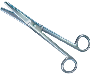 Mayo Scissors, Curved, 6 3/4""