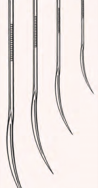 """Half Curved Suture Needle, Large, Extra Heavy-Duty  5"""""""
