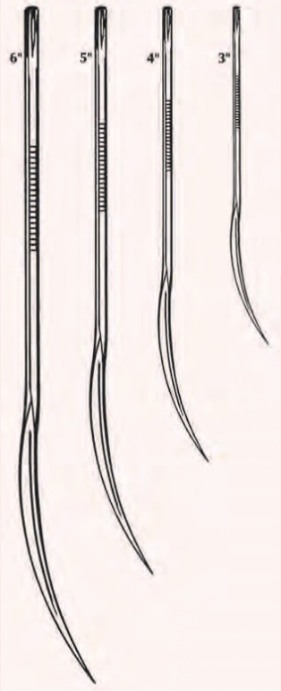 """Half Curved Suture Needle, Large, Extra Heavy-Duty  6"""""""