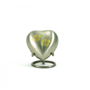 Pewter/Brass Double Paw Heart