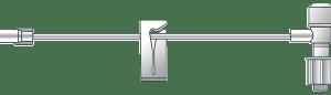 "Standard Bore ""T"" Extension, w/ Luer Lock"