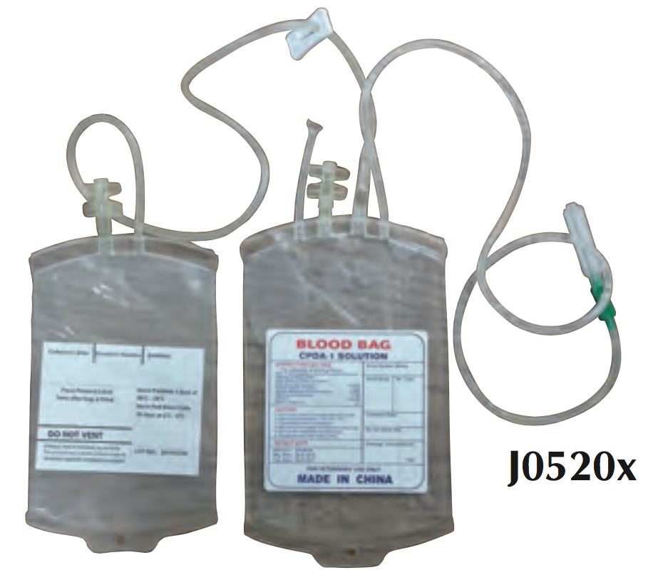 Double Blood Collection W Attached Transfer Bag