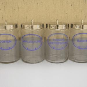 Sundry Jars, Glass, Labeled