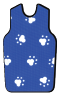 X-Ray Apron, Royal Blue Paws, Buckle, Large