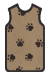 X-Ray Apron, Brown w/ Black Paws, Velcro, Small