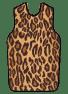 X-Ray Apron, Faux Leopard, Velcro, Large
