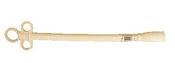 Plastic Balling Gun, Calf, White, Ribbed Head