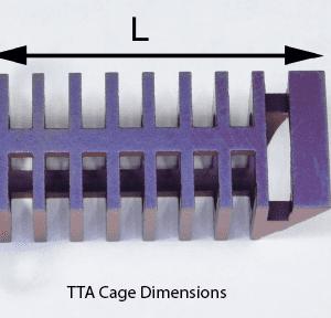 TTA Cage, Titanium, 3 x 10mm