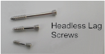 Headless Lag Screw, 2mm X 10mm