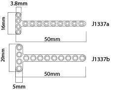 Mini T Plates 2.0mm, Small