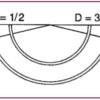 Braunamid w/ Needle, 3/8 Circle, Reverse Cutting, 30mm L, 0