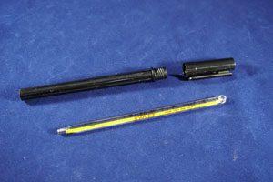 JorVet Large Animal Thermometer, Ringtop, w/ Case