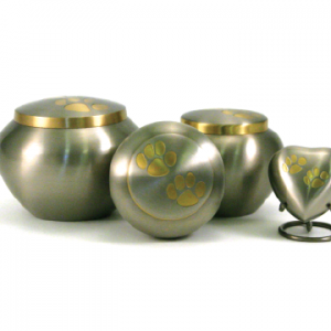 Pewter/Brass Double Paw Odessey,  Small