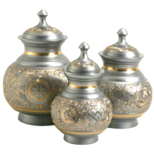 Silver Engraved Urn,  Medium