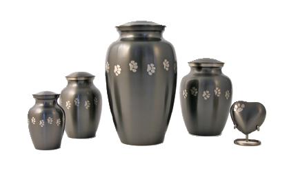 Paw Print Classic Slate Urn,  Medium