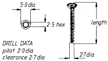 2.7mm Cortical Screw  36mm