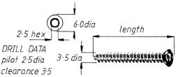 3.5mm Cortical Screw  16mm