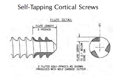 3.5mm Cortical Self-Tapping Screw, Stainless  26mm