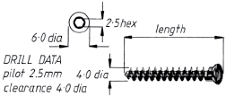 4mm Cancellous Screw, Full Thread  12mm