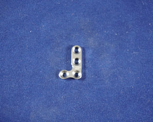 T Plate, Right Angle, 2.0mm, 4-hole, 18mm