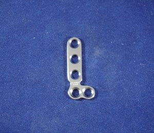 T Plate, Left Angle, 2.7mm, 5-hole, 32mm