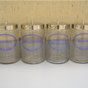 Sundry Jars, Glass, Labeled, Cotton Only