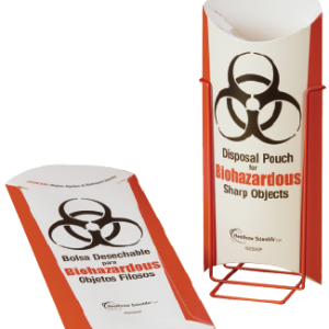 Biohazardous Disposal Pouch, Stand