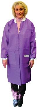 Disposable Lab Jacket, Knee Lenght, Medium, Teal Green