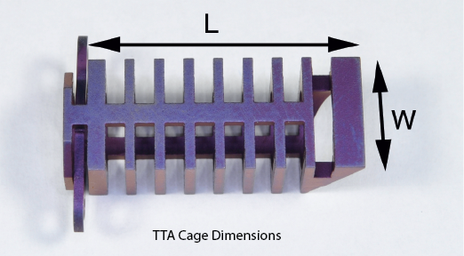 TTA Cage, Titanium, 9 x 25mm