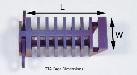 TTA Cage, Titanium, 12 x 25mm