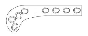 Supra Condylar Osteotomy Plate, 2.4mm Left