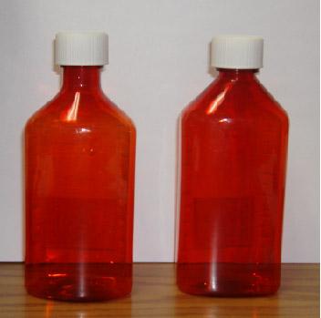 Amber Plastic Graduated Ovals, 8oz, 200/case