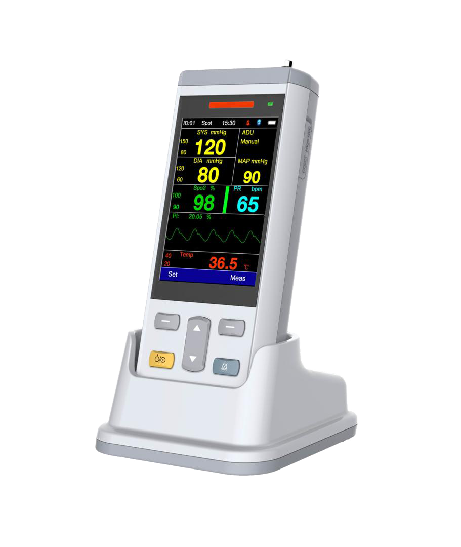 Vital Signs Monitor – Pulse Oximeter (SpO2) + Blood Pressure (NIBP) +  Capnography (ETCO2)
